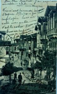 1917 yangınında tümüyle tahrip olan Hisarönün'den  bir sokak